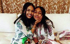 Submitted Photos || Rishma Chauhan Senior Rishma Chauhan poses with her sister, Raya Chauhan, on Diwali, the festival of lights that celebrates Rama's return to his kingdom.   Chauhan said at first she rejected her culture but later learned how to appreciate it.